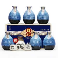 【买赠酒具】绍兴黄酒十八年花雕酒 整箱礼盒500mlx6坛 半甜型 送礼