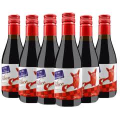 法国原瓶进口红酒小酒 波尔多法定产区干红葡萄酒187ml*6支(礼盒装)