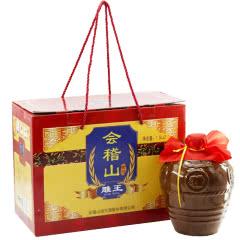 绍兴黄酒14°会稽山雕王礼盒1500ml*2坛价半甜型黄酒
