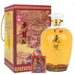 52°鹿茸血枸杞酒1500ml礼盒装白酒 含鹿茸片
