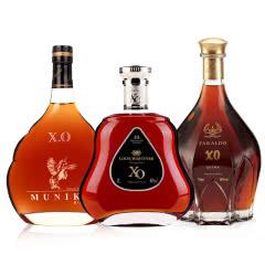 40°大瓶装2斤法国XO洋酒套餐组合 路易马西尼凯旋1000卡穆尼1000法莱多1000