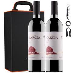 法国原瓶进口红酒卡西雅梅洛波尔多干红葡萄酒13度750ml*2瓶礼盒装
