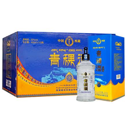 52°藏佳纯青稞酒浓香型白酒450ml*12瓶整箱装西藏特产白酒