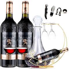 法国(原瓶)进口波尔多法定产区AOC级玛歌庄园法妮亚干红葡萄酒浮雕重型瓶750ml*2
