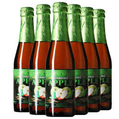 比利时进口 林德曼/利德美思Lindemans苹果果味啤酒 250ml*6