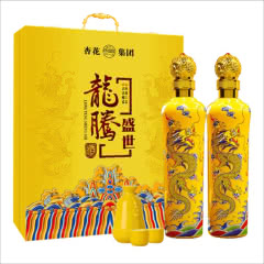53°山西杏花集团龙腾盛世清香型原浆白酒500mL*2瓶礼盒酒