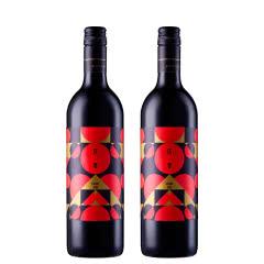 山西怡园酒庄庆春干红2018年份750ml*2 国产红酒 混酿干红