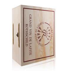 拉菲(LAFITE) 拉菲红酒礼盒木箱 松木盒 六支装木箱【不含酒】