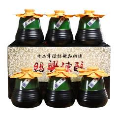 绍兴黄酒 十二年冬酿糯米花雕酒半甜型陈酿老酒 500mlx6瓶整箱礼盒装送礼自饮小酒包邮