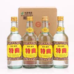 52°泸州浓香白酒型特曲酒450mlx4瓶(简装酒)