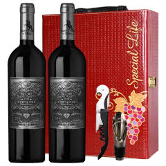 法国原酒进口干红葡萄酒 12.5%红酒(银标)送礼酒750ml(2瓶)