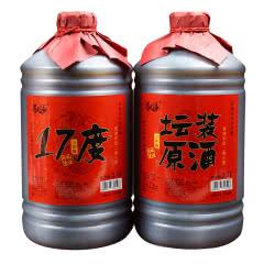 绍兴黄酒 三年陈糯米花雕老酒坛装原酒分装半干型2.5Lx2壶桶装加饭米酒做菜阿胶包邮