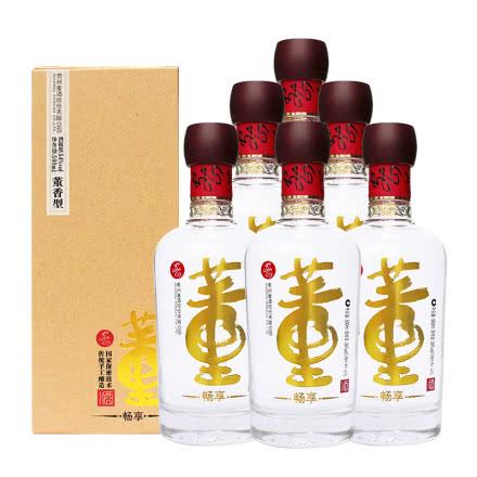 董酒54度畅享版500ml*6瓶整箱白酒送礼高度董香型白酒