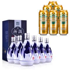 42°汾酒青花20年375ml*6+德国狮虎争霸比尔森啤酒500ml*6