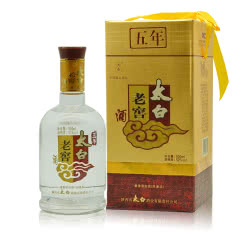 52°陕西太白酒五年老窖兼香型白酒500ml单瓶(2011年)
