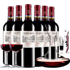 路易拉菲王子干红葡萄酒750ml(6瓶送醒酒器装)