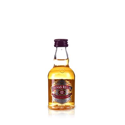40°芝華士12年蘇格蘭威士忌酒版50ml