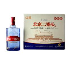 42° 永丰牌北京二锅头 国际版大师酿 永丰蓝瓶二锅头 清香型白酒 500ml*9