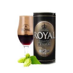 皇家(Royal)丹麦进口黑啤酒 1L(12罐装)