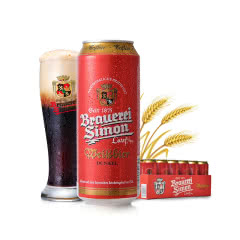 凯撒西蒙德国原装进口小麦黑啤酒500ml(24听装)