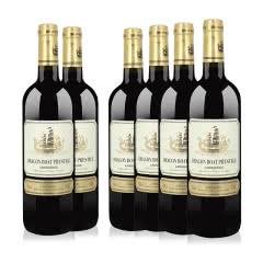 法国进口红酒 龙船干红葡萄酒 750ml*6瓶