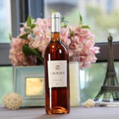【蕰妮酒庄直供法国原瓶进口桃红葡萄酒葛拉芙特酿桃红干型红酒(单瓶装)