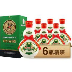 52°白沙液 绿盒老白沙液500ml*6瓶整箱