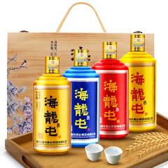 海龙屯酒(传奇四礼)4瓶木盒礼盒装53度酱香型白酒500ml*4瓶送礼酒