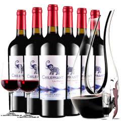 智利进口红酒 智象冰川珍藏美露干红葡萄酒红酒整箱750ml*6