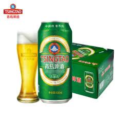 青岛啤酒(Tsingtao)经典10度500ml(12听)大罐整箱装