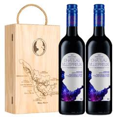 拉蒙 维勒堡酒庄 波尔多AOC级星座酒标 法国原瓶进口干红葡萄酒750ml*2礼盒装
