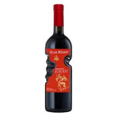 天使之手艺术瓶 高颜值红酒 低度 朗琴甜红 葡萄酒750ml