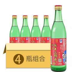 46°永丰牌二锅头绿瓶清香型原浆酒 500ml(4瓶装)