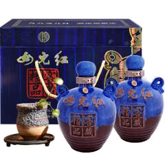 绍兴黄酒女儿红花雕酒精品窖藏1500ml*2年份商务礼盒加饭糯米整箱