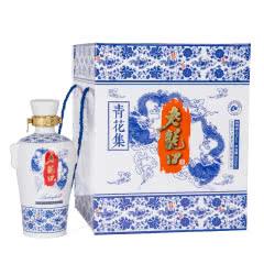 52°老龙口青花集礼盒350mlx4瓶