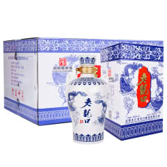 45°老龙口青花龙酒500mlx6瓶整箱