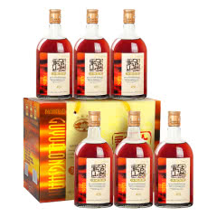 绍兴黄酒 古越龙山三年陈酿花雕酒500ML*6瓶装 半甜型酒 老酒整箱