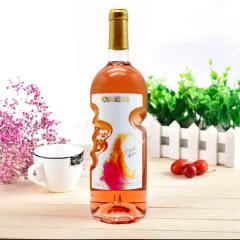 天使之手艺术瓶 高颜值红酒 低度甜型桃红葡萄酒750ml*1瓶