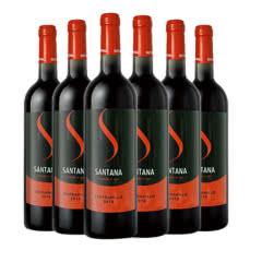 西班牙原瓶进口莎塔娜红标干红葡萄酒红酒整箱750ml*6