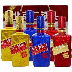 北京二锅头大都京韵珍藏纯粮酒三色瓶身500ml*6瓶