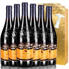 法国朗格巴顿原酒进口红酒赤霞珠干红葡萄酒送礼袋送开瓶器750ml*6(整箱装)