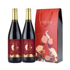 【红酒礼盒】黄金鲟摩尔多瓦喜宴系列半甜红葡萄酒750ml*2