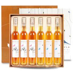 【2种口味/礼盒装】慕拉冰酒玫瑰酿白葡萄酒蓝钻冰酒甜型6支套装送礼袋整箱375m *6支