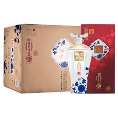 河南酒 赊店老酒 青花瓷 赊店元青花15 浓香型白酒500ml 礼盒装52度6瓶整箱