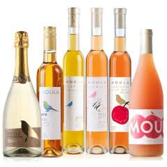 慕拉(MOULA)白葡萄酒 冰酒莫斯卡托女士非香槟干红起泡酒雷司令果酒 甜酒红酒礼盒