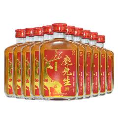 35°权禄鹿先生鹿茸血酒100ml(10瓶装)礼盒收藏酒箱装非保健酒业补酒养生酒人参滋补酒