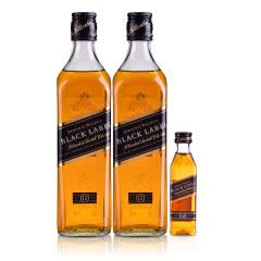 40°尊尼获加(Johnnie Walker) 黑方调配型苏格兰威士忌500ml(双瓶装)+黑方小酒50ml