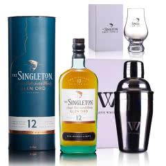 40°英国苏格登格兰欧德12年单一麦芽苏格兰威士忌 700ml+尊尼获加五角杯+摇酒壶