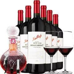 澳洲原瓶进口红酒纳谷奔富庄园bin128干红葡萄酒750ml*6