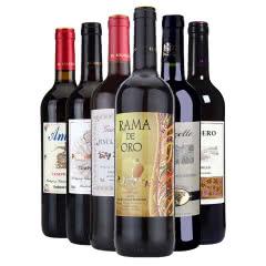 原瓶进口红酒 精品优享组合干红葡萄酒六支套装